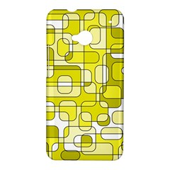 Yellow decorative abstraction HTC One M7 Hardshell Case