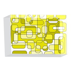 Yellow decorative abstraction 4 x 6  Acrylic Photo Blocks