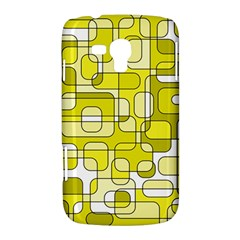 Yellow decorative abstraction Samsung Galaxy Duos I8262 Hardshell Case