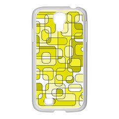 Yellow decorative abstraction Samsung GALAXY S4 I9500/ I9505 Case (White)