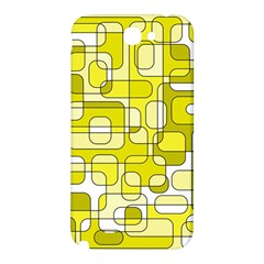 Yellow decorative abstraction Samsung Note 2 N7100 Hardshell Back Case