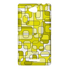 Yellow decorative abstraction Sony Xperia C (S39H)