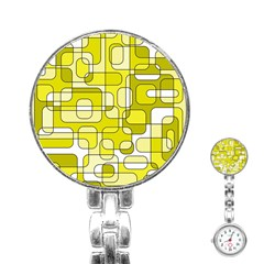 Yellow decorative abstraction Stainless Steel Nurses Watch