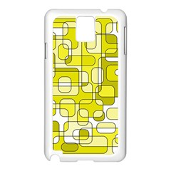 Yellow decorative abstraction Samsung Galaxy Note 3 N9005 Case (White)