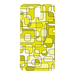Yellow decorative abstraction Samsung Galaxy Note 3 N9005 Hardshell Back Case