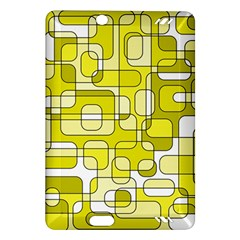 Yellow decorative abstraction Amazon Kindle Fire HD (2013) Hardshell Case