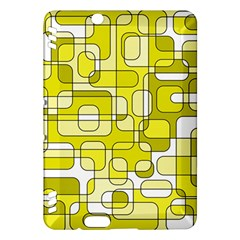 Yellow decorative abstraction Kindle Fire HDX Hardshell Case