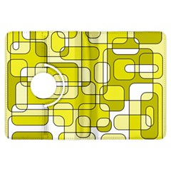 Yellow decorative abstraction Kindle Fire HDX Flip 360 Case