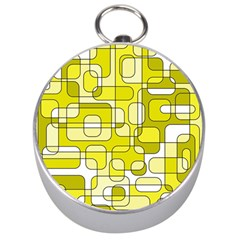 Yellow decorative abstraction Silver Compasses