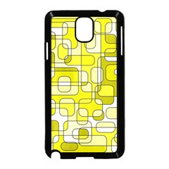 Yellow decorative abstraction Samsung Galaxy Note 3 Neo Hardshell Case (Black)