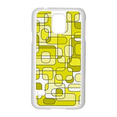 Yellow decorative abstraction Samsung Galaxy S5 Case (White)