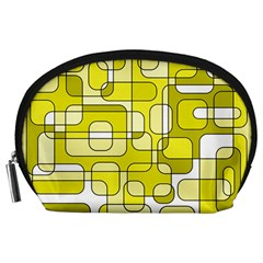 Yellow decorative abstraction Accessory Pouches (Large)