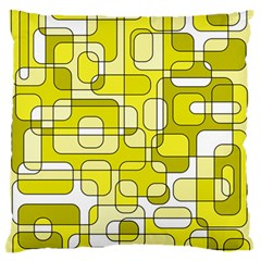 Yellow decorative abstraction Large Flano Cushion Case (One Side)