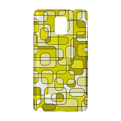 Yellow decorative abstraction Samsung Galaxy Note 4 Hardshell Case