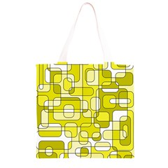 Yellow decorative abstraction Grocery Light Tote Bag