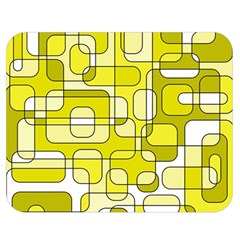 Yellow decorative abstraction Double Sided Flano Blanket (Medium)