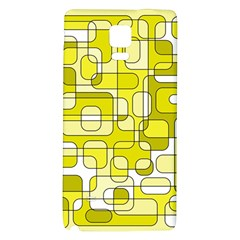 Yellow decorative abstraction Galaxy Note 4 Back Case