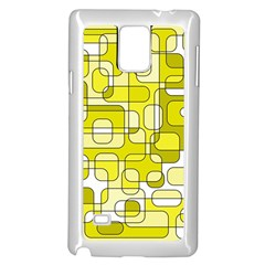 Yellow decorative abstraction Samsung Galaxy Note 4 Case (White)