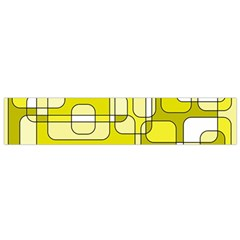 Yellow decorative abstraction Flano Scarf (Small)