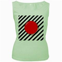 Red ball Women s Green Tank Top