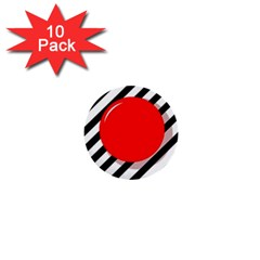 Red ball 1  Mini Buttons (10 pack)