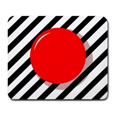 Red ball Large Mousepads