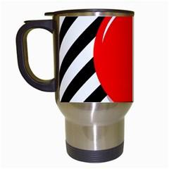 Red ball Travel Mugs (White)