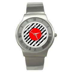 Red ball Stainless Steel Watch
