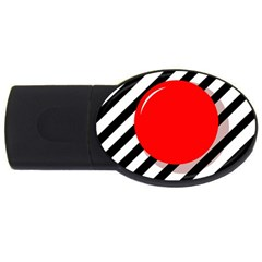 Red ball USB Flash Drive Oval (4 GB)
