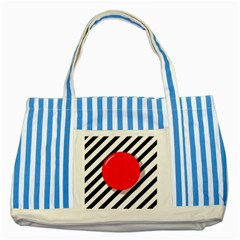 Red ball Striped Blue Tote Bag
