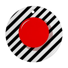 Red ball Round Ornament (Two Sides)