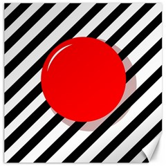 Red ball Canvas 16  x 16