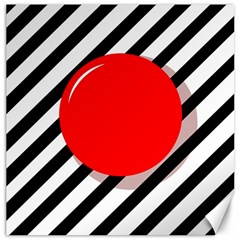 Red ball Canvas 20  x 20
