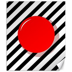 Red ball Canvas 20  x 24