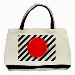 Red ball Basic Tote Bag (Two Sides)