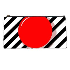 Red ball Pencil Cases