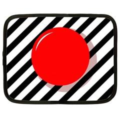 Red ball Netbook Case (XL)
