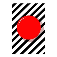 Red ball Shower Curtain 48  x 72  (Small)