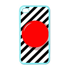 Red ball Apple iPhone 4 Case (Color)