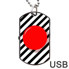 Red ball Dog Tag USB Flash (Two Sides)