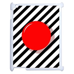 Red ball Apple iPad 2 Case (White)