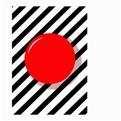 Red ball Small Garden Flag (Two Sides)