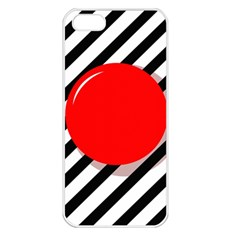 Red ball Apple iPhone 5 Seamless Case (White)