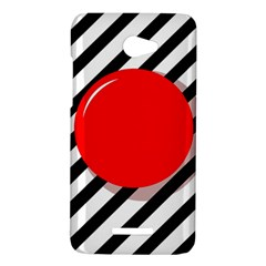 Red ball HTC Butterfly X920E Hardshell Case