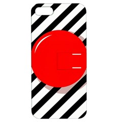 Red ball Apple iPhone 5 Hardshell Case with Stand