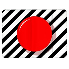 Red ball Samsung Galaxy Tab 7  P1000 Flip Case
