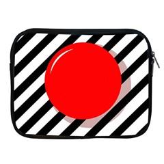 Red ball Apple iPad 2/3/4 Zipper Cases