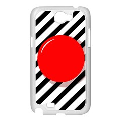 Red ball Samsung Galaxy Note 2 Case (White)