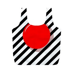 Red ball Full Print Recycle Bags (M)