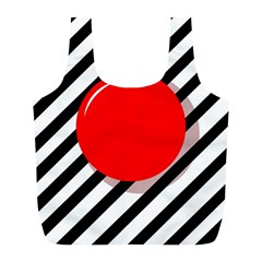 Red ball Full Print Recycle Bags (L)